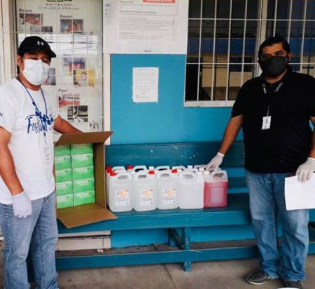 Anduro Manufacturing Donates Mask and Hand Sanitizer to local charities