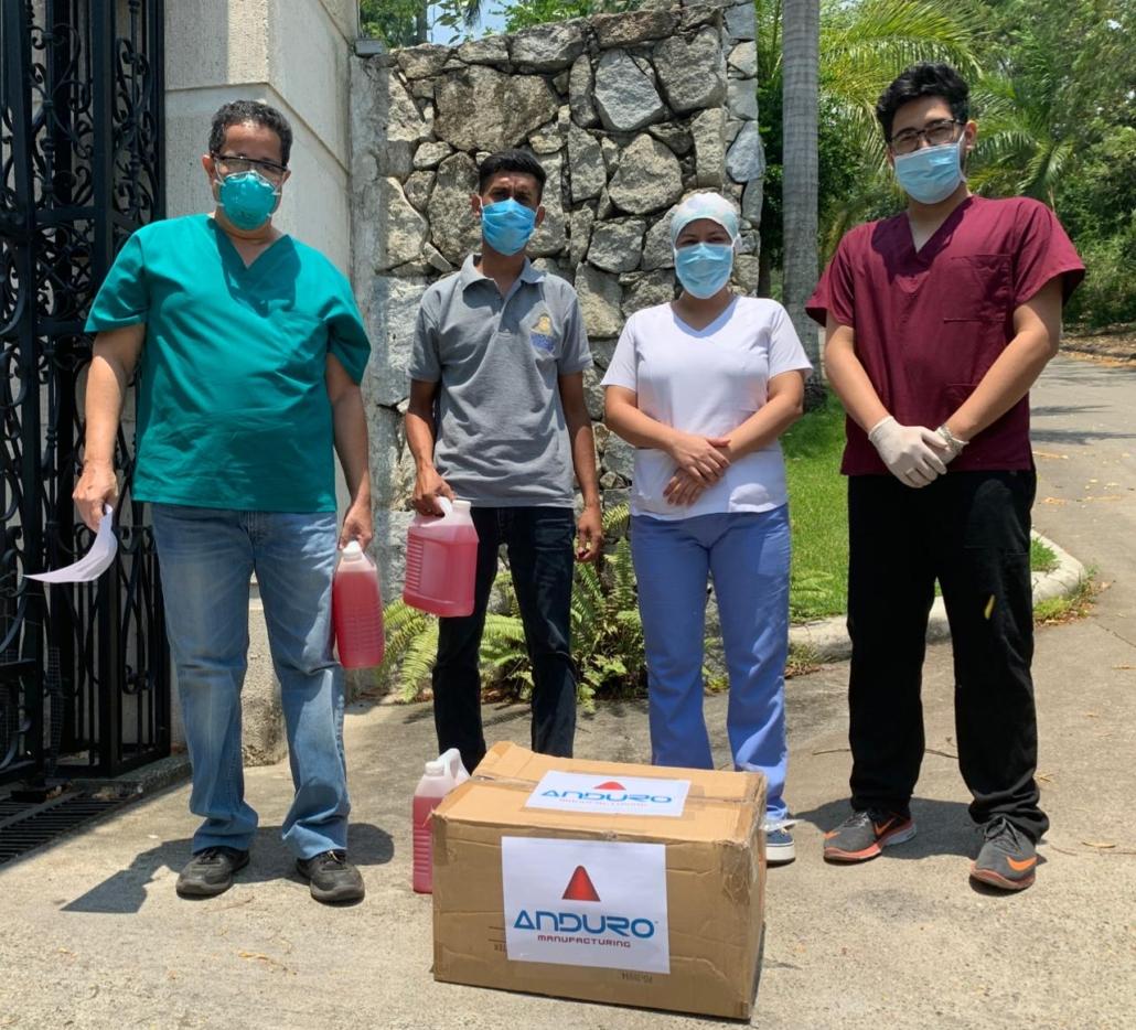 Anduro donates PPP suplies to local charities